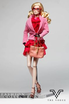 TV1044 The Vogue Pink Lace Dress Fashion Full Set (Limited Edition) Box Set for Barbie Fashion Royalty FR2 Poppy Parker Silkstone