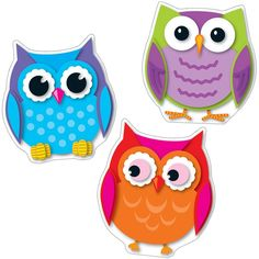 Colorful Owl Cut-Outs