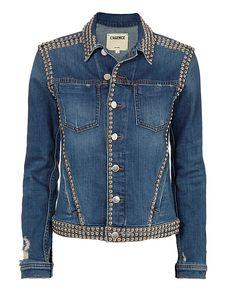 L'Agence Celine Studded Jean Jacket Denim P - ShopStyle Love Jeans, Jeans Style, Denim Fashion, Look Fashion, Studded Denim Jacket, Designer Jeans For Women, Altering Clothes, Cool Jackets, Denim Outfit