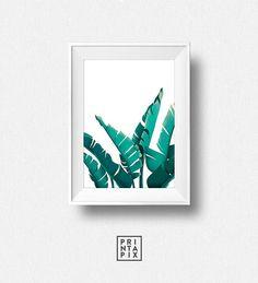 Tropical Leaf Print Plant Prints Modern Art Tropical