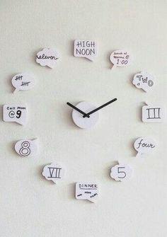 Cute clock for teen girl room More