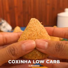 Coxinha low carb – A manger – Receita Easy Healthy Recipes, Low Carb Recipes, Tasty Videos, Low Carb Keto, Food And Drink, Yummy Food, Creme, Italian Cooking, Dieta Low