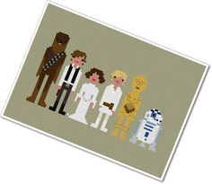 Star Wars Cross-stitch. I think my brother-in-law needs this for Christmas! Right, Heather? :)