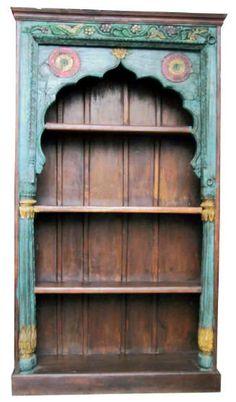 Painted Indian bookshelf