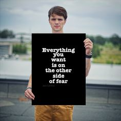 """""""Everything you want is on the other side of fear"""" – Jack Canfield"""