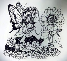 紙雕 Kirigami, 3d Drawing Pen, Paper Art, Paper Crafts, Paper Cutting Patterns, Fairy Silhouette, Paper Cut Design, Disney Princess Art, La Art