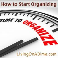 "When it comes to organizing, the first question I am always asked is, ""Where do I begin?"" followed by, ""How do I do it?""This will answer both of those questions and you can start getting organized today! Click here for these easy organizing tips! http://www.livingonadime.com/start-organizing/"