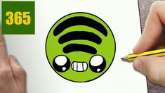 HOW TO DRAW A SPOTIFY LOGO CUTE, Easy step by step drawing lessons for kids Projects For Kids, Art Projects, Art Lessons, Art Designs, Kids Service Projects, Art Tutorials