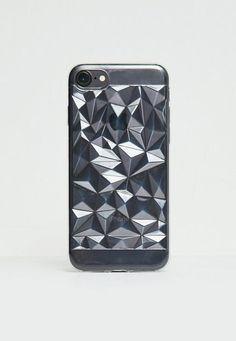 donnez du style à votre phone-tel. on adore cette coque transparente avec son motif géométrique super tendance!