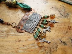 In The Heat Of The Flame: a Viking Rustic collar, industrial, delicate and bold…