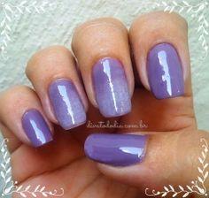 Gradient Nails with Bourjois 1 Second Gel & FA  Post: http://www.divatododia.com.br/2015/01/nas-unhas-bourjois-1-second-gel-t09.html