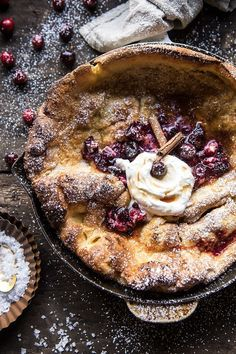 Cinnamon Spiced Dutch Baby with Cranberry Butter   halfbakedharvest.com @hbharvest