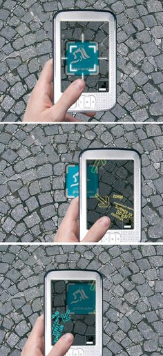 A new way of discovering the city .:. with augmented signage in the pavement!  Urban Promenades by Sandrine Herbert Razafinjato - 2008