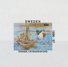 Sweden Duck Conservation Stamp.  (proof sheet) 1996-97.