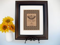 Burlap Print Christian Sign Wall Decor  Be by InTheDustDesigns