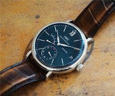 IWC Portofino 8 Day Power Reserve Manual Wind wristwatch...WOW
