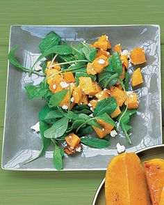 The sweet-tasting squash is counterbalanced with the salty cheese and tangy arugula in this salad.