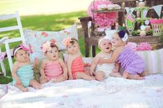Group Babies Hair Accessories---love the colors and all the babies together