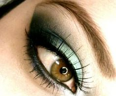 Misty Blue....Gorgeous! But I would tone down the mascara, it distracts from the eye shadow