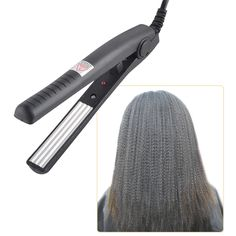 Eléctrica Rizador de Pelo Plancha de Pelo que endereza Hierro Corrugado Placa de Maíz Mini Ondulación Corrugación Herramientas de Peinado
