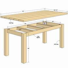 Build a Simple Reclaimed Wood Table diy table Woodworking Projects Diy, Woodworking Furniture, Furniture Plans, Diy Furniture, Woodworking Plans, Workbench Plans, Woodworking Store, Popular Woodworking, Workbench Top