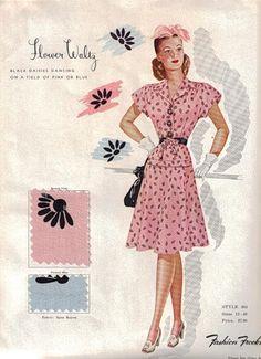 Flower Waltz - 1950s Fashion ~ (pág. 111) | Aprender manualidades es facilisimo.com