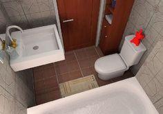 Very small bathroom   | 3D rendered by Purnomo Adi Prasetyo