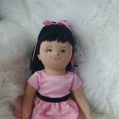 Asian Rag Doll, Custom Handmade Doll, Soft Sculpture Keepsake for Her, Gift for Girl, Chinese Jointed Doll, OOAK Made to Order Rag Dolls, Soft Sculpture, Custom Dolls, Gifts For Girls, Decorative Items, Flower Girl Dresses, Chinese, Asian, Artist