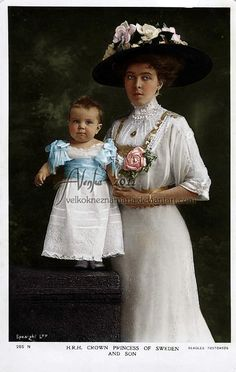 Princesse héritière Margareta de Connaught (1882-1920) et Prince Gustaf Adolf de Suède, duc de Västerbotten (1906-1947)