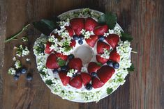 4th Of July Vanilla Bean Angel Food Cake Recipe