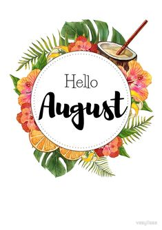 Hello August monthly cover for planners bullet journals by vasylissa Journal Bullet Journal August, Bullet Journal Cover Page, Journal Covers, Bullet Journal Inspiration, Bullet Journals, August Wallpaper, Calendar Wallpaper, August Month Quotes, Neuer Monat