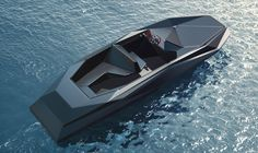 Image 2 of 2 from gallery of Zaha Hadid designs Z Boat for American Art Dealer. Courtesy of Zaha Hadid Architects/ Kenny Schachter-ROVE Architectes Zaha Hadid, Zaha Hadid Architects, Zaha Hadid Design, Yacht Design, Boat Design, Zaha Hadid Buildings, Cool Boats, Yacht Boat, Luxury Yachts