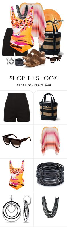 """Santa Barbara Poolside"" by kaylyn-80864 ❤ liked on Polyvore featuring La Perla, Lands' End, CÉLINE, Missoni Mare, Emilio Pucci, ABS by Allen Schwartz, Ice, Venus and Lady Godiva"