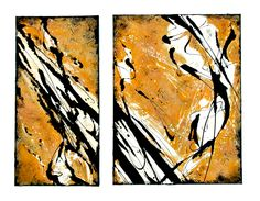 """""""Gelb / Yellow"""" Acryl on canvas 30 x 80 and 50 x 80 cm Painting Canvas, Abstract Art, Yellow, Artwork, Abstract, Kunst, Pictures, Work Of Art, Auguste Rodin Artwork"""