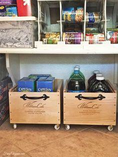 wine crate storage