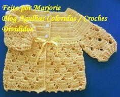 As Receitas de Crochê: PAP Casaquinho de Croche de Bebê