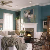 Paint your wall GREEN!  Green is considered the most restful color for the eye. Combining the refreshing quality of blue and the cheerfulness of yellow, green is suited to almost any room in the house.
