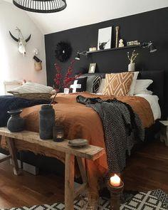Dream Bedroom, Home Bedroom, Bedroom Romantic, Modern Bedroom, Black Bedroom Furniture, Hippy Bedroom, Contemporary Bedroom, Bedroom Classic, Romantic Home Decor