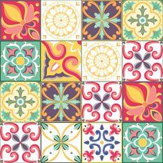 Adesivo Azulejo 10x10 50un Carmesim