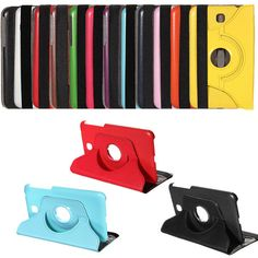 360 Rotating Stand PU Leather Case for Samsung Tab 3 7.0 P3200
