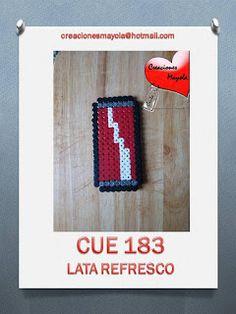Creaciones Mayola: HAMA BEAD, LATA REFRESCO, LATA COCA COLA.