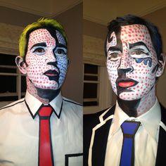 Lichtenstein inspired pop art makeup