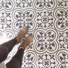 Pattern floor tiles are a huge trend this year, 2017 home decor trend.
