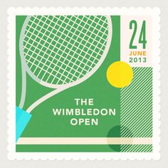 Wimbledon Open #tennis #illustration