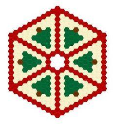 Hexadoodle Christmas Tree Skirt