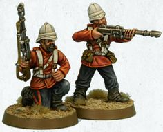 Victorian Guard from Victoria Miniatures. Love the seamless blend of historical British Red Coat uniforms with sci-fi weaponry. #geek