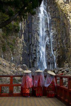 The World Heritage, Nachi Falls at Kumano Taisha, Wakayama, Japan