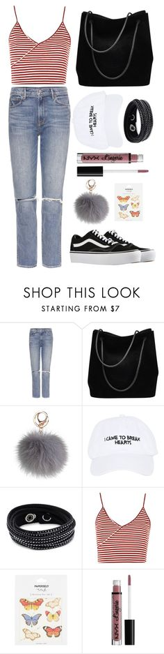 """rtd"" by altrisa-mulla ❤ liked on Polyvore featuring GRLFRND, Gucci, Nasaseasons, Swarovski, Topshop, Paperself, NYX and Vans"