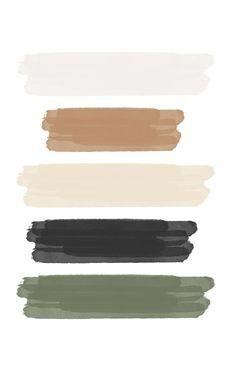 JAPANDI MOODBOARD Interior Design Mood Board by celinamarisse | Style Sourcebook Colour Pallete, Colour Schemes, Color Combos, Taupe Color Palettes, Black Color Palette, Green Palette, Bedroom Color Schemes, Color Trends, Good Notes
