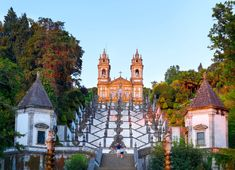 Places In Portugal, Spain And Portugal, Portugal Trip, Minho, Sacred Architecture, Fairytale Castle, Medieval Castle, Water Flow, Travel Images